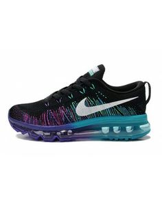 8578e6893df Nike Women s Air MAX Flyknit Runing Shoes Black and Purple 408C Cheap Nike