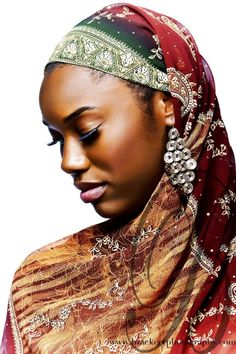 African head wrap ~African Prints, African women dresses, African fashion styles, African clothing, Nigerian style, Ghanaian fashion ~DK