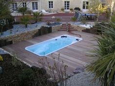 """Install your Hydropool Swim Spa on any patio or concrete surface and customize build around it for that """"dropped in"""" look"""
