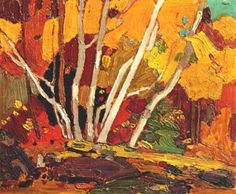 Autumn Birches - Tom Thomson