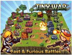 Tiny War is a fantastic massively multiplayer online war strategy game. You will develop your own military base, produce weapons, train your troops, and deploy them to fight against enemies and players with the aim of expanding your military might and dominance!
