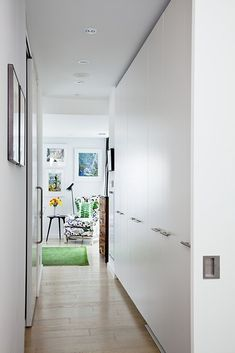 Great closets for an entry hall.