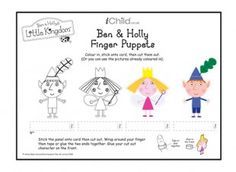These Ben & Holly's Little Kingdom finger puppets are a great craft template for your child to have fun playing with! Look out for our Little Kingdom puppet theatre activity too, so your child can create their own puppet shows! Please ensure ALL cutting out is performed with an adult!