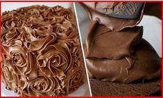 Házi csokikrém - kiváló minden süteménybe, de akár kenyérre is kenheted! Sweet Like Candy, Cake Fillings, Cream Cake, Icing, Peanut Butter, Fudge, Dessert Recipes, Food And Drink, Sweets