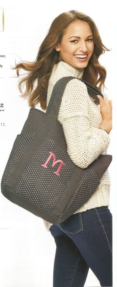 NEW!  Go-To Tote in City Charcoal /Swiss Dot  4 Large Exterior Pockets, 1 interior Zip pocket & 2 Flat Pockets $58
