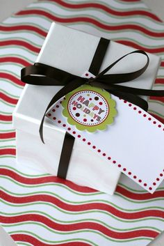 Gift Tags - Printable Modern Holiday Package - The TomKat Studio. $7.50, via Etsy.