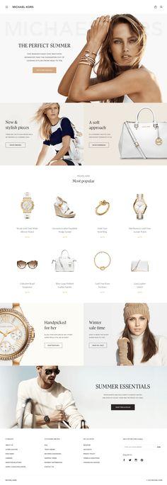 Michael_Kors_re-design_real_pixels.png by Dejan Markovic - Web design - Ecommerce Webdesign, Webdesign Layouts, Website Layout, Web Layout, Website Design Inspiration, Pag Web, Webdesign Inspiration, Web Design Tips, Ux Design