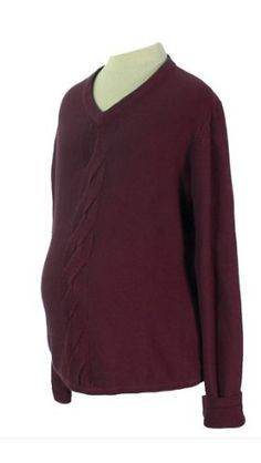 Lilo Maternity Center Cable V-neck Sweater Burgundy XXL by Lilo Maternity. $50.00. Top Quality Children's Item.. Made with the Best Quality Material with your child in mind.. Lilo Maternity knows how expectant women feel because our company was started and continues to be run by women who have gone through the pregnancy experience. As your body goes through changes, it becomes more difficult to find comfortable clothing without compromising your sense of style....