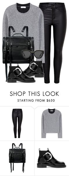 """What I'd Wear"" by monmondefou ❤ liked on Polyvore featuring Balenciaga, McQ by Alexander McQueen, Maison Margiela, Prada, black and gray"