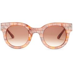 THIERRY LASRY Women's Celebrity Round Acetate Frame Sunglasses ($150) ❤ liked on Polyvore featuring accessories, eyewear, sunglasses, thierry lasry, thierry lasry sunglasses, round lens sunglasses, rounded glasses and brown round sunglasses