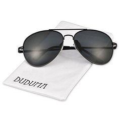 Duduma Premium Classic Aviator Sunglasses with Metal Frame Uv400 Protection(Black frame/smoke lens)