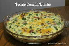Hate having food go to waste? This Potato Crusted Quiche is a great, healthy way to use up ingredients and still have a delicious breakfast!
