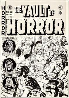 Original Comic Art:Covers, Johnny Craig Vault of Horror