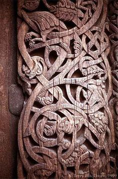 Stave Church Door, Norway