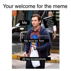 The Effective Pictures We Offer You About Memes de amor A quality picture can tell you many things. You can find the most beautiful pictures that can be presented to you about bts Memes in this accoun Funny Marvel Memes, Marvel Jokes, Dc Memes, Tom Peters, Tom Holand, Baby Toms, Fangirl, Tom Holland Peter Parker, Tommy Boy