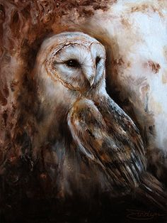Owl Print featuring the painting Latte by Danielle Trudeau Arte Zombie, Owl Artwork, Photo Animaliere, Owl Pictures, Beautiful Owl, Owl Print, Wildlife Art, Animal Paintings, Painting & Drawing