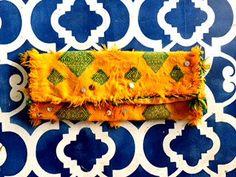 Moroccan Kilim Clutch by ArgaWise on Etsy