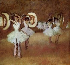 """ Dance Rehearsal in the Studio of the Opera via Edgar Degas Medium: oil on canvas"""