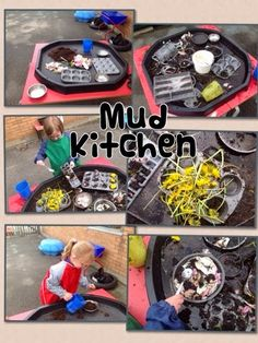 Today we& had fun exploring in our new Mud Kitchen. Today& specials were: dandelion buns, petal pies and daisy soup. I& looking forw. Eyfs Outdoor Area, Outdoor Areas, Outdoor Play, Outdoor School, Outdoor Classroom, Reggio Classroom, Outdoor Education, Outdoor Learning, Nursery Activities