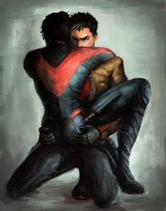 JayDick : Jason Todd x Dick Grayson || DC || tumblr || Red Hood x Nightwing