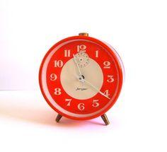 Vintage EXTRA LARGE JERGER Jumbo alarm clock with bells ...