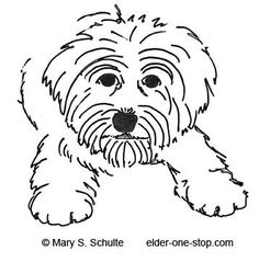 dog or puppy free animal template and would be very cute on a rock