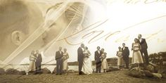 Cool wedding party picture idea