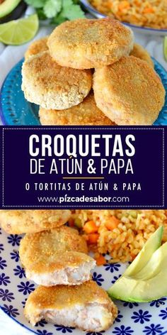 Croquetas de atún & papa o tortitas de atún & papa. Fish Recipes, Seafood Recipes, Mexican Food Recipes, Cooking Recipes, Healthy Recipes, Easy Dinner Recipes, Easy Meals, Food Porn, Deli Food