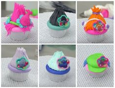 Learn how to make these adorable Trolls cupcakes. Perfect for your little one's next birthday!
