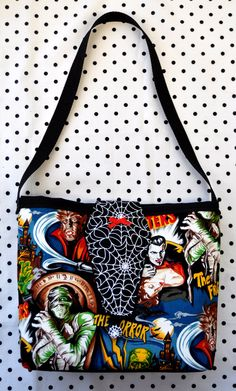 New Style! Classic Horror Movie Monsters Purse with Glow in the Dark Spider Webs Coffin Flap $15.40 from Sabbie's Purses and More