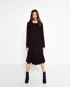 PLUSH FRILL DRESS - DRESSES-WOMAN | ZARA United States