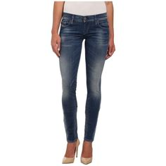 Diesel Grupee Skinny 664S Women's Jeans ($198) ❤ liked on Polyvore featuring jeans, blue skinny jeans, skinny leg jeans, patch jeans, frayed jeans and blue jeans