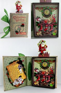 Artfully Musing: Christmas Wishes Shadow Box Book with Tutorial