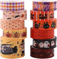 Nastro adesivo Washi,11 rotoli Set nastri adesivi Washi di Halloween Collezione di nastri adesivi decorativi per Scrapbook Artigianato fai-da-te e confezioni regalo Articoli per ufficio, 13 mm x 3 m : Amazon.it: Casa e cucina
