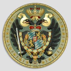 Coat of arms in the royal crypt of Theatine Church, in Munich, Germany. Austrian Empire, Tag Image, Family Crest, Coat Of Arms, Word Of God, Psychedelic, Aztec, Christianity, Religion