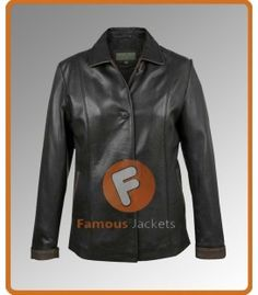 Ladies Black Carol Leather Jacket