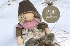 Handcraft Patterns by Fig&Me 2013.    Dress any of your dolls in a cozy heart-warmer, knit by you! This cozy item of clothing knits up quite quickly and