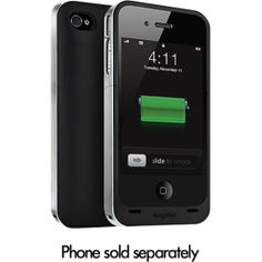 Mophie Juice Pack Air Case and Rechargeable Battery (Black, Verizon and ATT iPhone Iphone 4s, Iphone Cases, Apple Iphone, Att Iphone, Mophie Case, Car Cleaning Hacks, Tablets, Geocaching, Just In Case