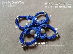 Jewelry Medallion (free pattern) .... muskaan's T*I*P*S: Curled Ring final options and a free pattern