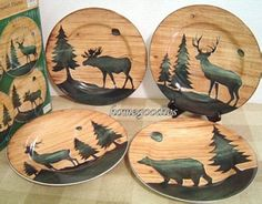 cabin dishes | The dinnerware has the collectible salad plates as part of the set.