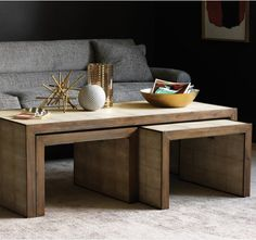 nesting coffee tables by DwellStudio