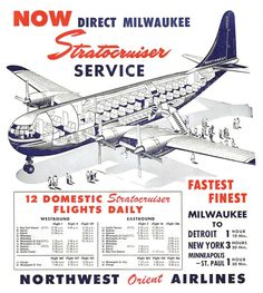 Travel Ads, Airline Travel, Air Travel, Illustration Avion, Aviation World, Aviation Art, Northwest Airlines, Passenger Aircraft, Flying Boat