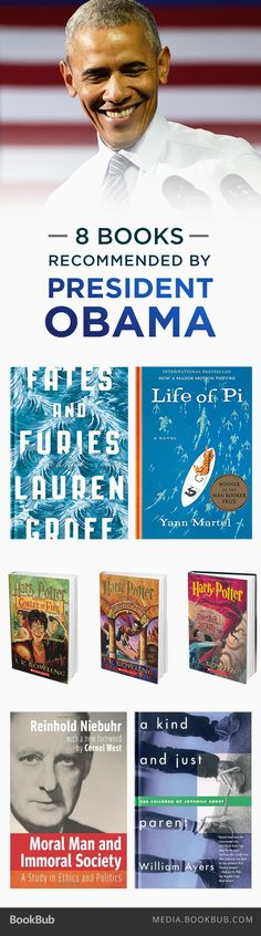 8 books recommended by President Obama, including Life of Pi by Yann Martel.