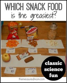 Fun science investigation for kids -- which snack food is the greasiest?