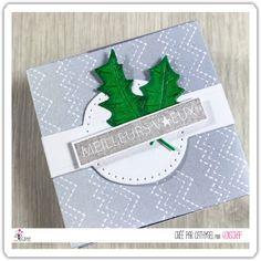 "Cathygel : #Tampons et #matrices de coupe #dies #4enSCRAP ""Boite kado 5"" #cadeau #scrapbooking #DIY #loisirscréatifs #boite Mini Albums, Scrapbooking Diy, Tampons Transparents, Emboss, Pixies, Merry Little Christmas, Happy New Year, Creative Crafts, Gift"
