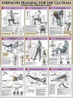 9 different butt workouts for women's anatomy. #routine #workout muscletransform.com