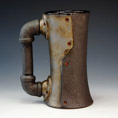 Andrew Massey - Crimson Laurel Gallery Bakersville NC - SteamPunk Ceramics www.crimsonlaurelgallery.com/Artist.cfm