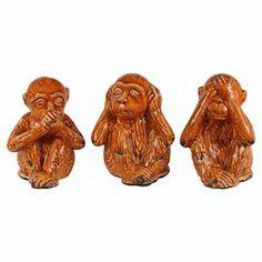 3-Piece Dionne Monkey Decor Set
