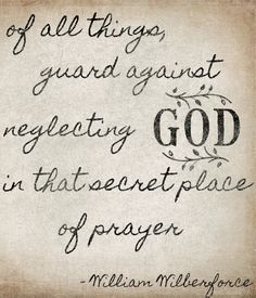 guard against neglecting God.