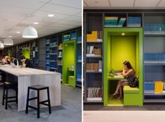 DIY Built-in Reading Nook Idea for your Library DIY-Leseecke-privaten-Lesesaal-ist-literarische-Oase Diy Interior, Office Interior Design, Office Interiors, University Interior Design, Interior Decorating, Modern Library, Library Design, Library Ideas, Library Furniture
